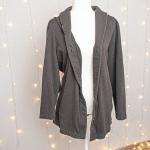 Denim & Co. black zip up jacket size 2x